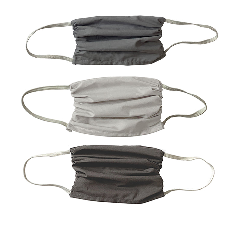 Just Grey colors- X LARGE Masks- 3 Pack