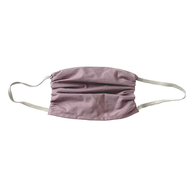 Colorful  Cotton Face Shield- X LARGE Mauve-3 Pack