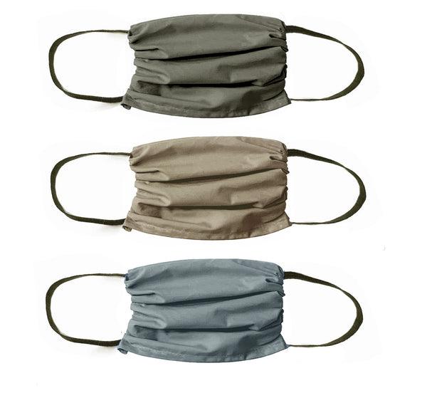 NEW! Trio  3 layer Mask Set -Nevada Neutrals -3 Pack of Sun washed colors