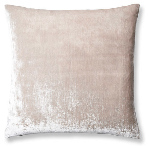 Washed Velvet Euro Sham - Soft Nude