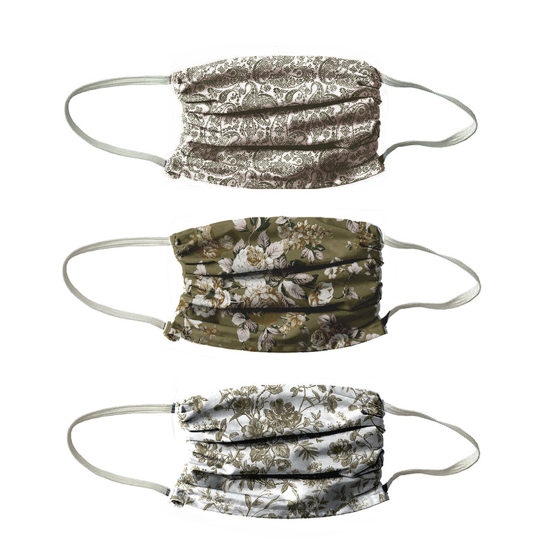 NEW! TRIO 3 PLY OLIVE DRAB VINTAGE 3 PACK-  OLIVE COLORS