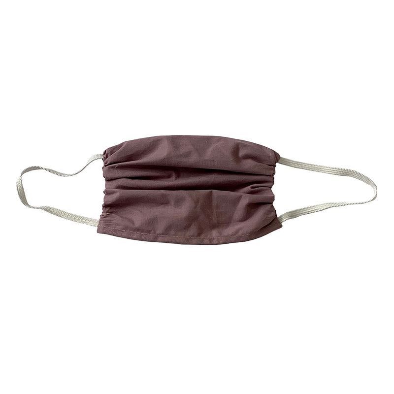 Colorful  Cotton Face Shield- X LARGE - Soft Plum -3 Pack