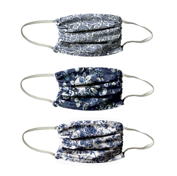 NEW! DENIM BLUES PRINT 3 PACK-  DARK BLUE COLORS