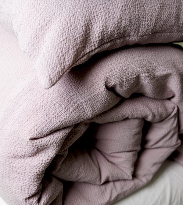 NEW! Super Comfy Soft Cotton Popcorn Cloud Texture Duvet Set - Haze