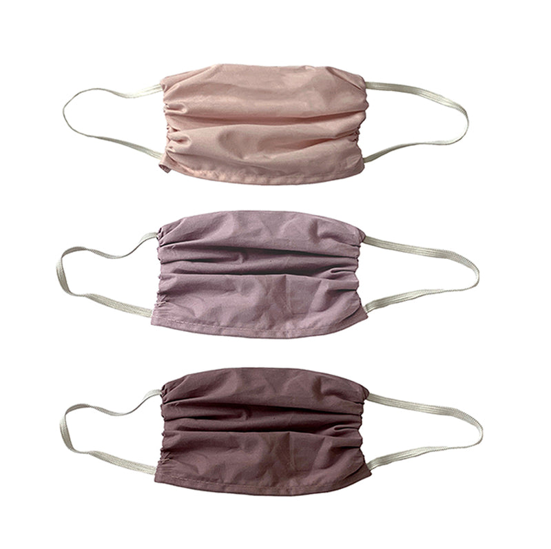 SMALL SIZE-  Soft Mauvy  colors- Masks- 3 Pack