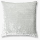 Washed Silk Velvet Border Linen Collection - Soft Grey