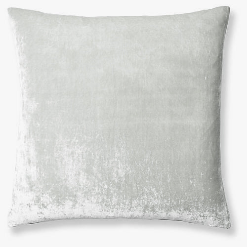 Washed Velvet Euro Sham - Soft Grey