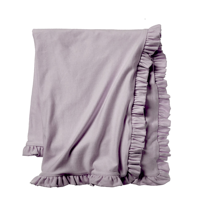 Cozy Sweatshirt Ruffle Throw - Lilac