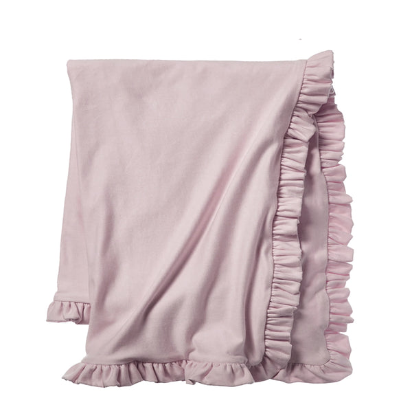 Cozy Sweatshirt Ruffle Throw - Rose Blush