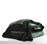 Washed Velvet Ruffle Collection - Thyme