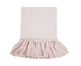 Velvet Tatter Ruffle PIllowcase  - Rose Blush