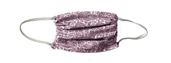 Vintage Paisley Face Mask-Cherry Wine