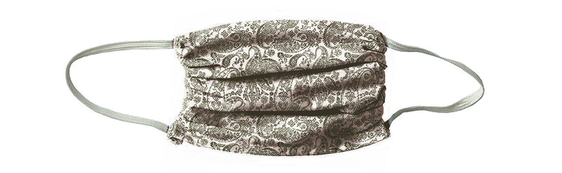 Vintage Paisley Face Mask-Olive Drab