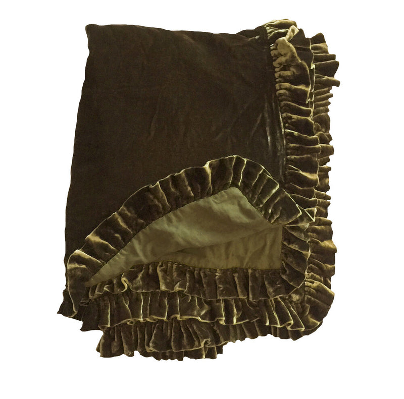 Washed Velvet Ruffle Collection - Bronze
