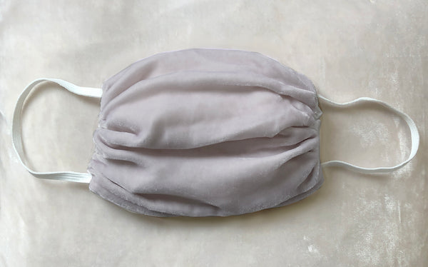 Vintage Velvet Face Mask- Soft Grey -1 Unit