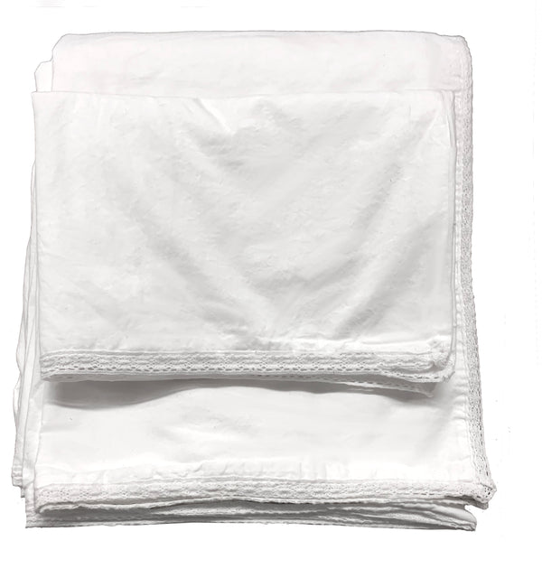 Chelsea Crochet 100% Garment Wash Cotton Poplin Duvet Set-White