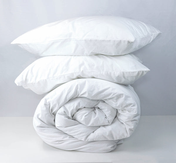 Softly Washed 100% Cotton Poplin Duvet Set-White
