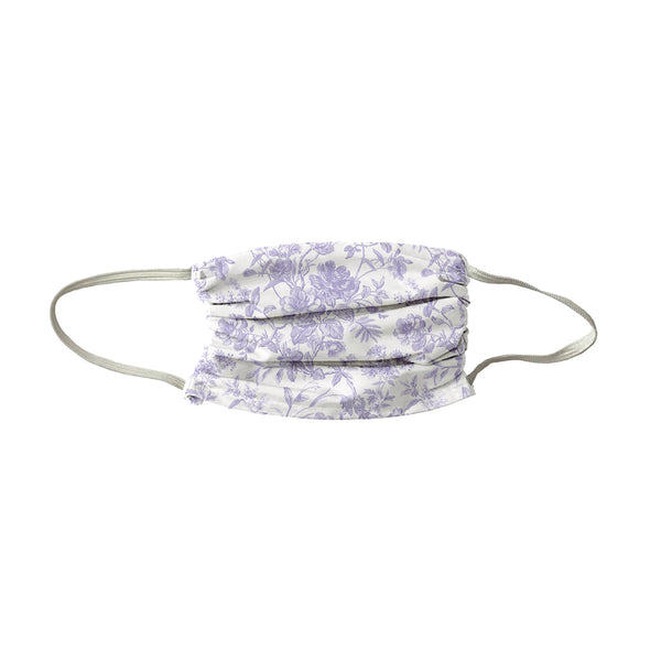 French Toile Face Mask- Lilac