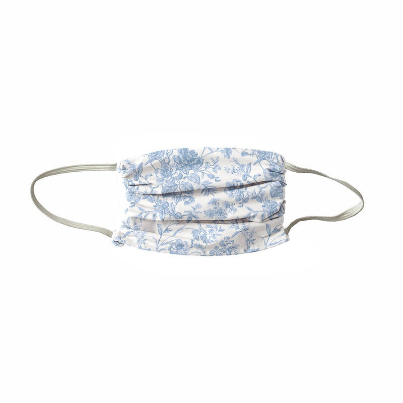 NEW! TRIO 3 PLY French Toile Face Mask- Soft Blue