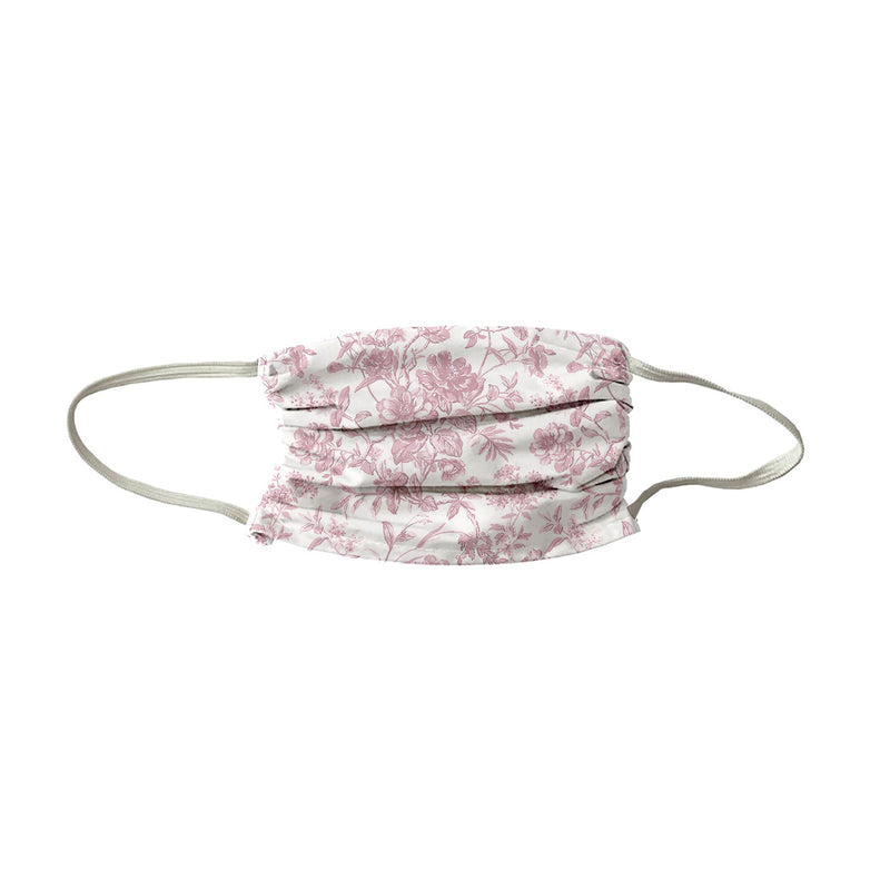 French Toile Face Mask- Soft Rose