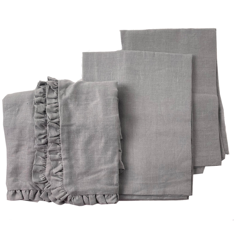 Sample Set #3 Linen Shams  - Assorted Sizes-Granite