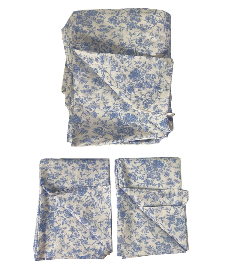 Sample Set #6  French Toile Duvet Set-Twin-Chambray