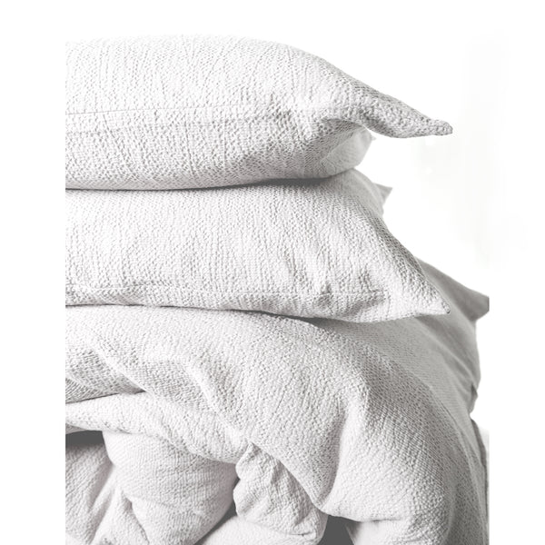 NEW! Super Comfy Soft Cotton Popcorn Cloud Texture Duvet Set -White