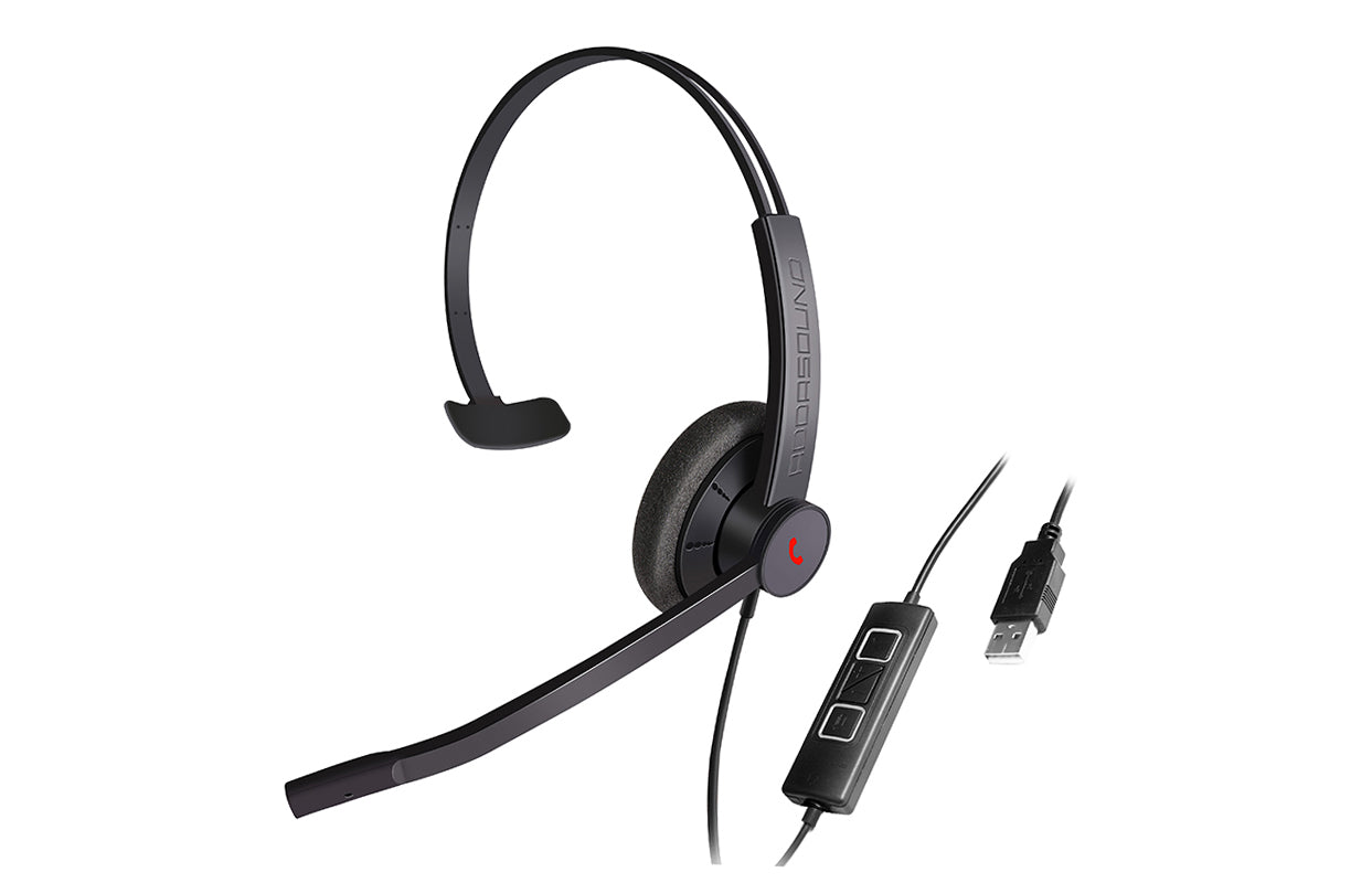 EPIC 301 ADDASOUND USB Headset Microphone (Black)