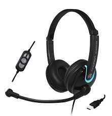Andrea Electronics NC-255VM USB On-Ear Stereo USB Headset