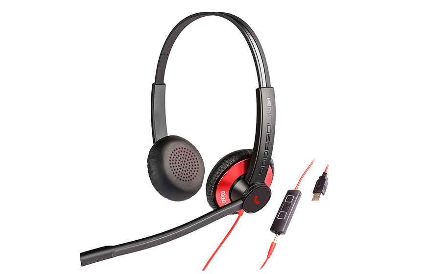 EPIC 502 (E502) ADDASOUND Wired Duo USB Headset Microphone