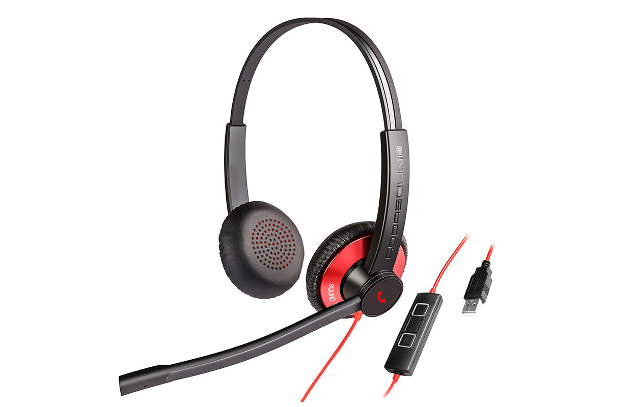 EPIC 512 (E512) ADDASOUND Wired Duo USB Headset Microphone
