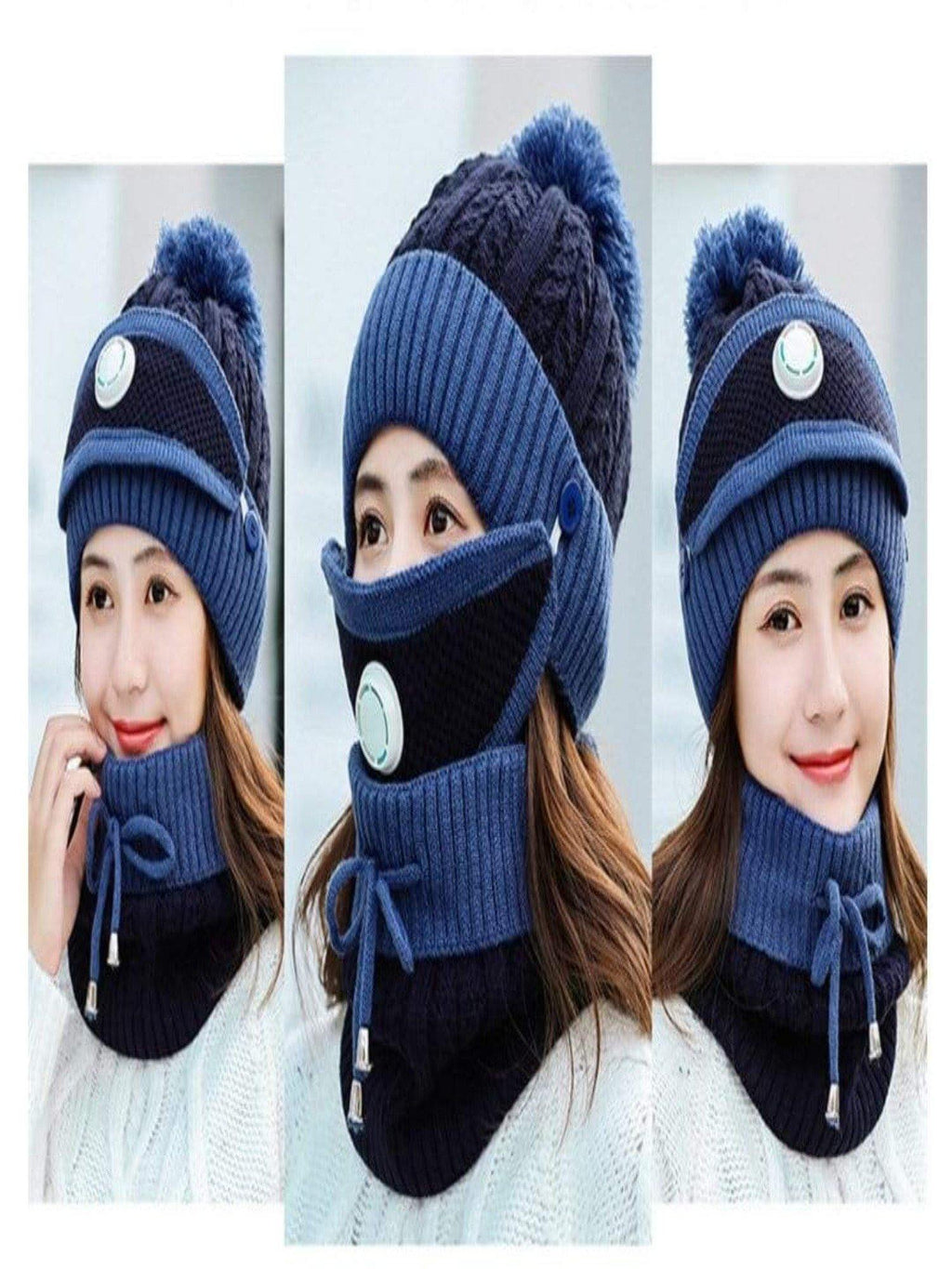 Hat Mask Neck Warmer Set - Panther