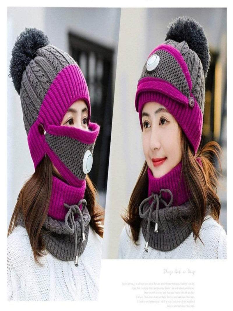 3 PCS SET HAT MASK AND NECK WARMER - Panther ®