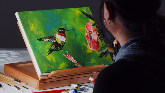 How-to-Paint A Hummingbird Using Acrylic