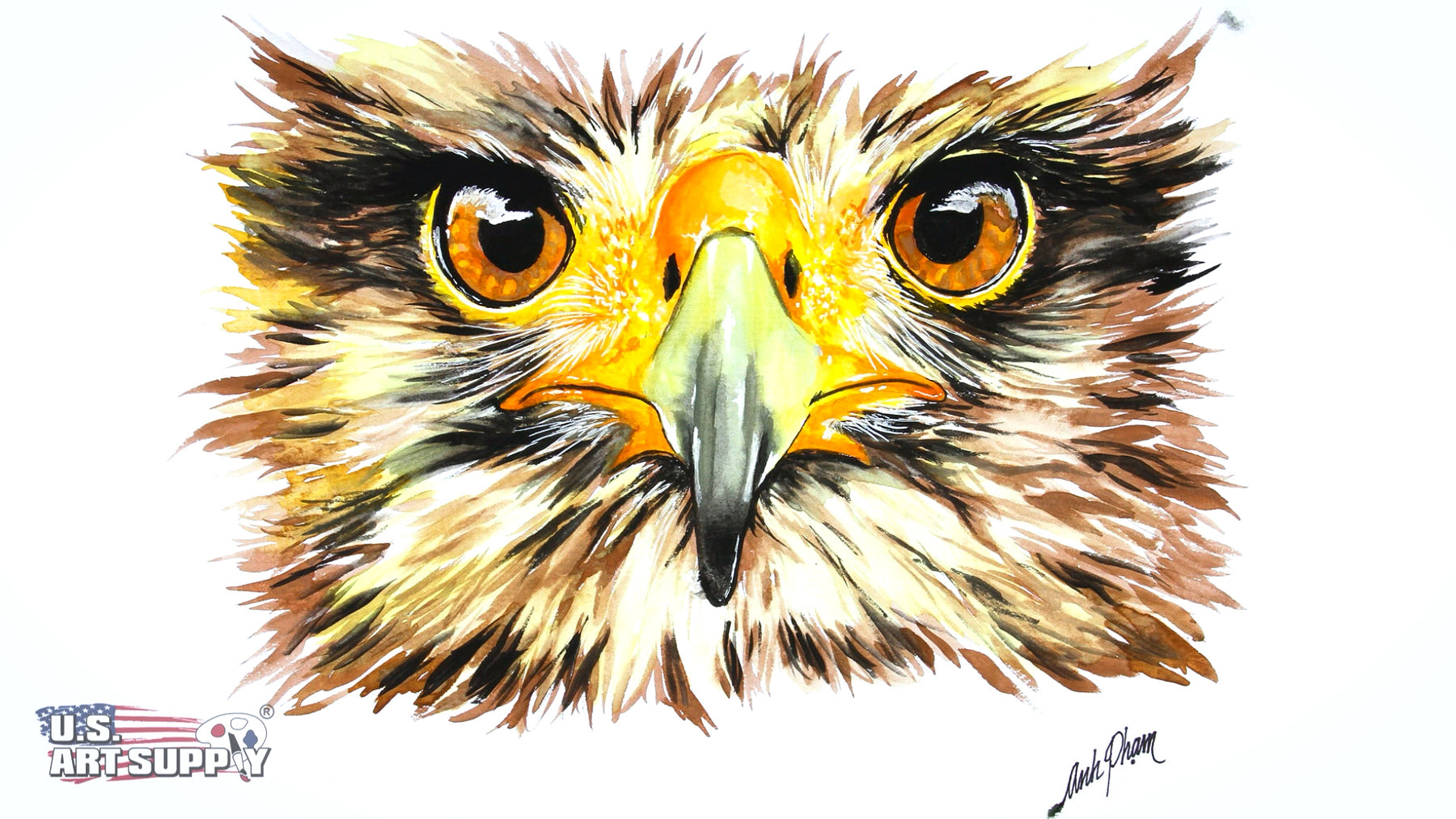 How-To-Draw the Golden Eagle Using Watercolor