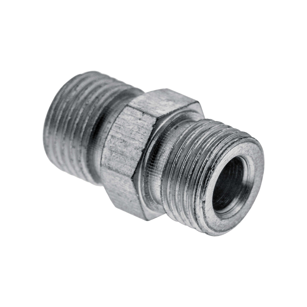 "1/8"" BSP Male to 1/8"" BSP Male Fitting Conversion Adapter"