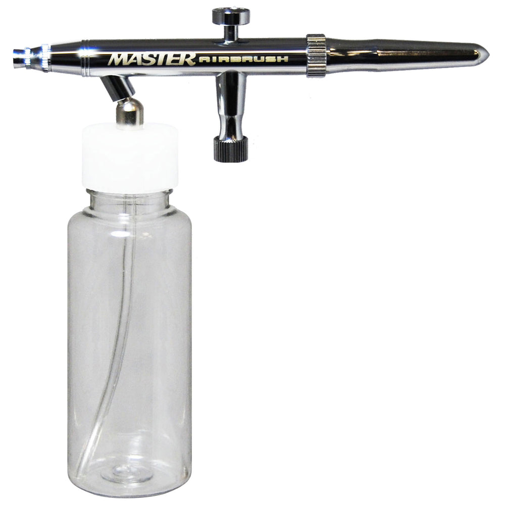 Multi-Purpose Siphon Feed Single Action Airbrush Kit with a 4 oz. Plastic Bottle and a 0.3mm Fluid Tip