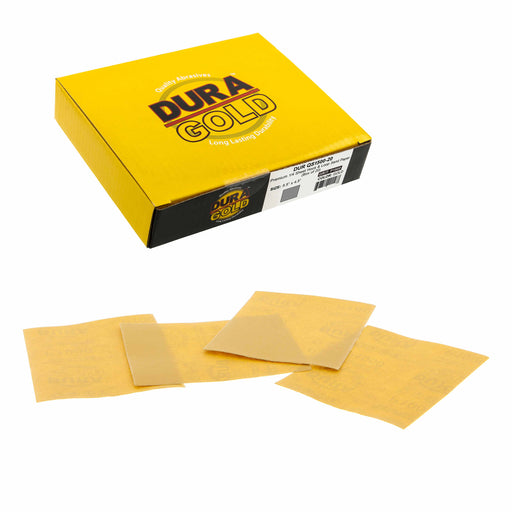 "3000 Grit - 1/4 Sheet Hook & Loop Sandpaper 5.5"" x 4.5"" - For Automotive & Wookworking Palm Sanders - Box of 20"