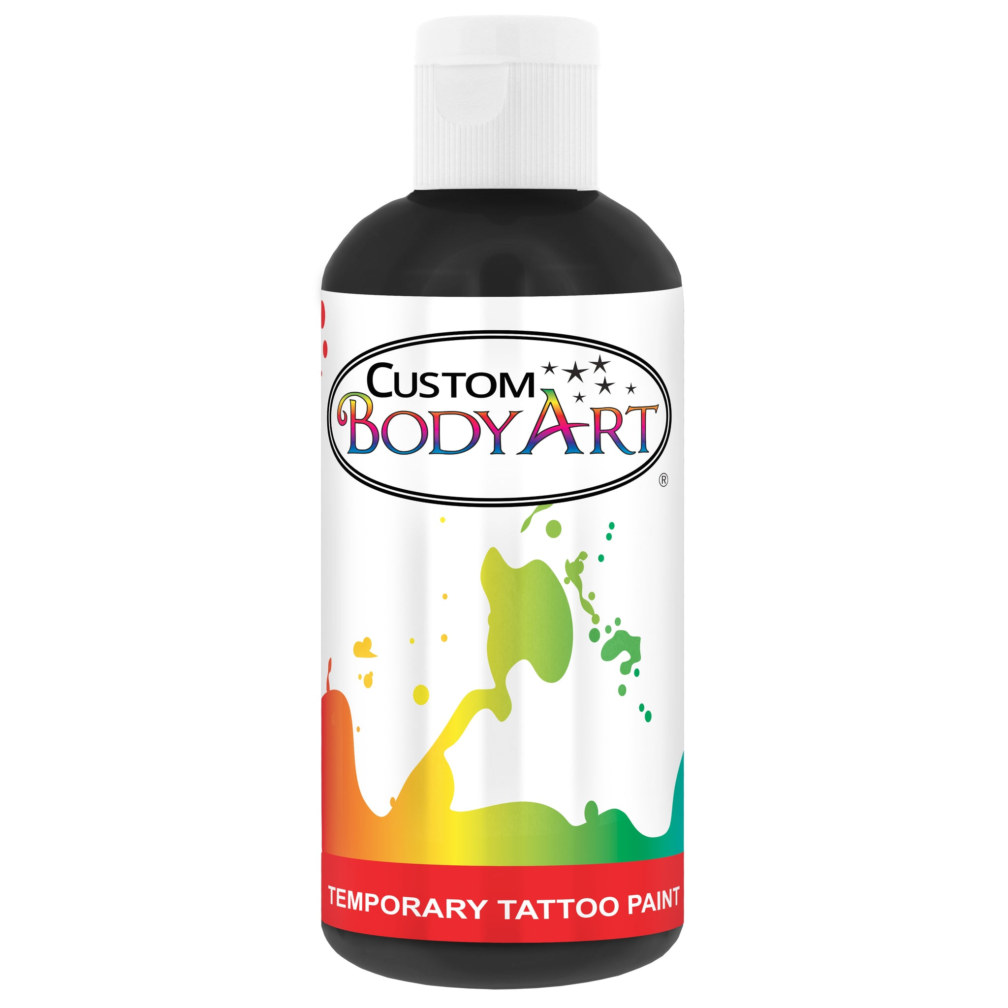 Black Airbrush Temporary Tattoo Body Paint Makeup, 8 oz.