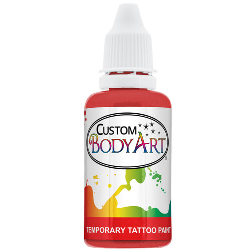 Red Airbrush Temporary Tattoo Body Paint Makeup, 1 oz.