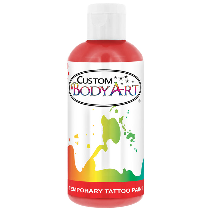 Red Airbrush Temporary Tattoo Body Paint Makeup, 8 oz.