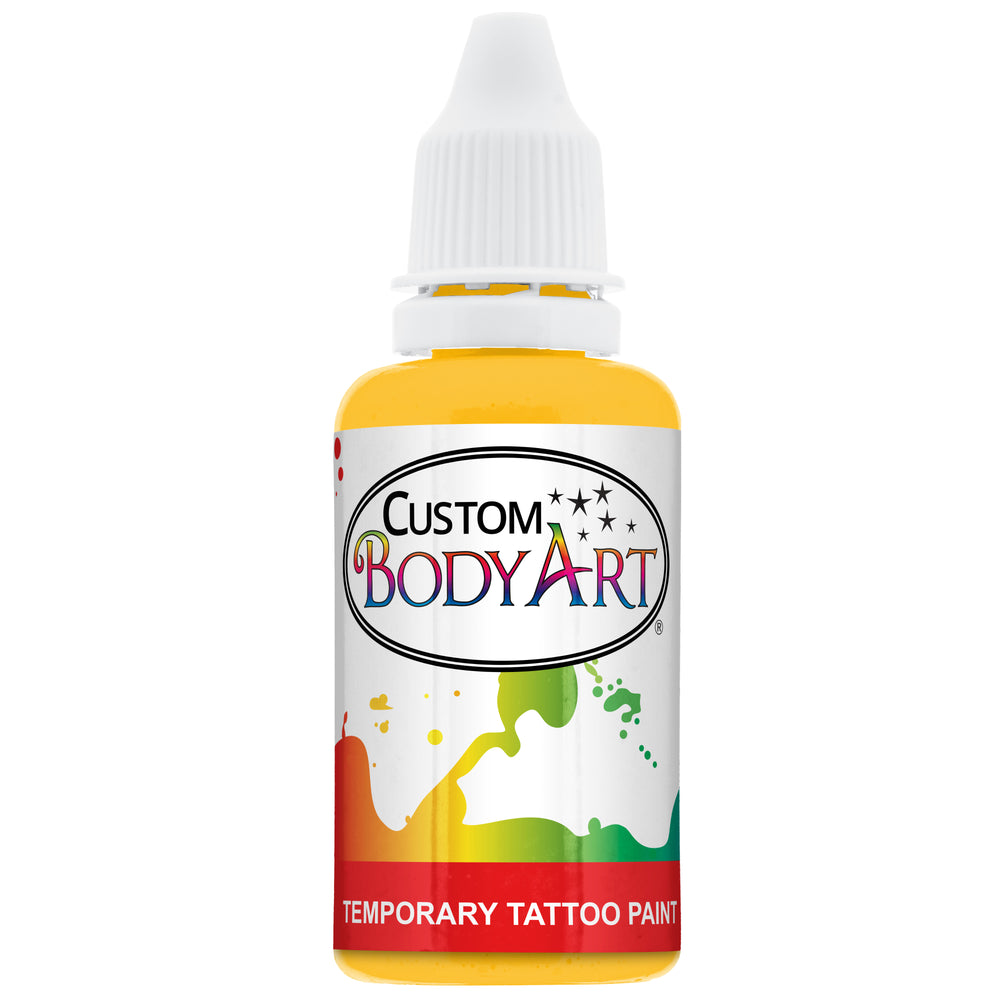 Yellow Airbrush Temporary Tattoo Body Paint Makeup, 1 oz.
