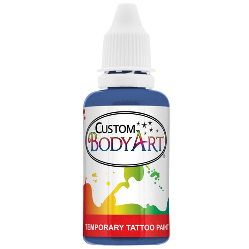 Blue Airbrush Temporary Tattoo Body Paint Makeup, 1 oz.