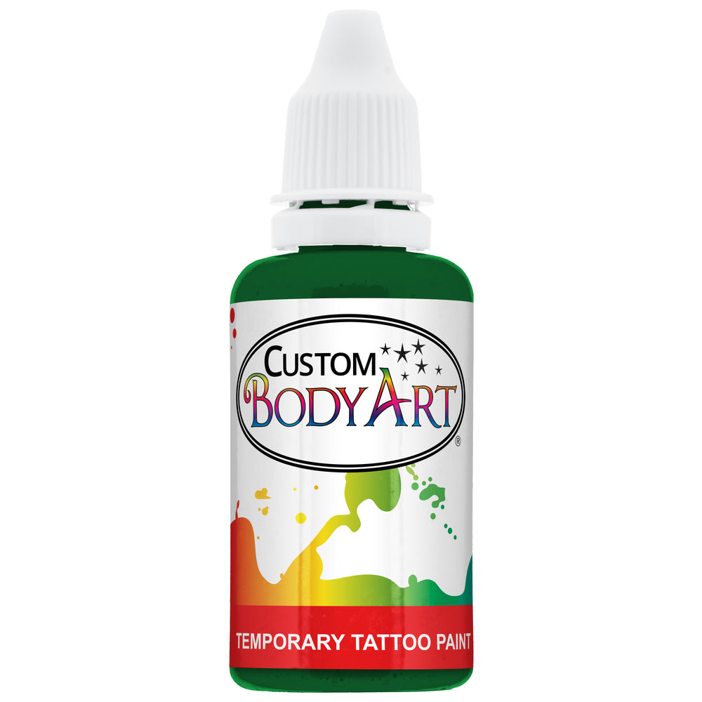 Green Airbrush Temporary Tattoo Body Paint Makeup, 1 oz.