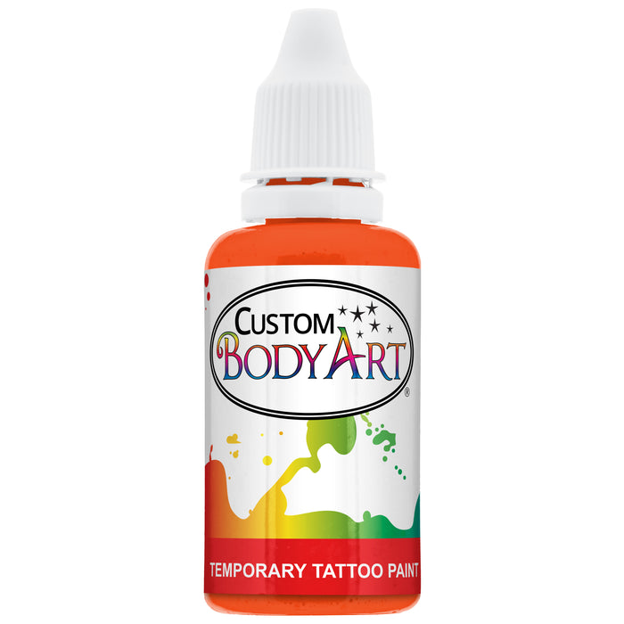Orange Airbrush Temporary Tattoo Body Paint Makeup, 1 oz.