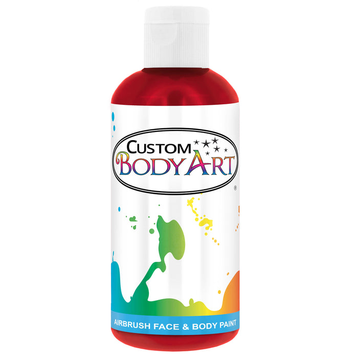 Crimson Red Airbrush Face & Body Water Based Paint for Kids, 8 oz.