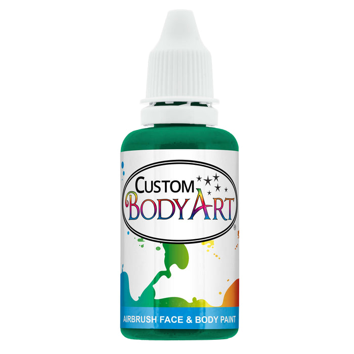Emerald Green Airbrush Face & Body Water Based Paint for Kids, 1 oz.