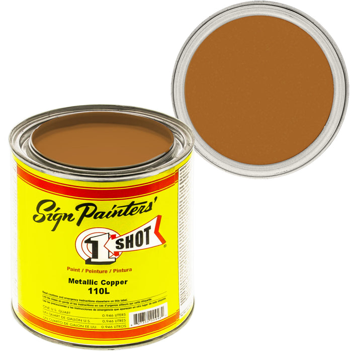 Metallic Copper Pinstriping Lettering Enamel Paint, 1 Quart