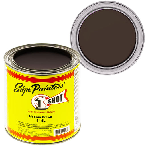 Medium Brown Pinstriping Lettering Enamel Paint, 1 Quart