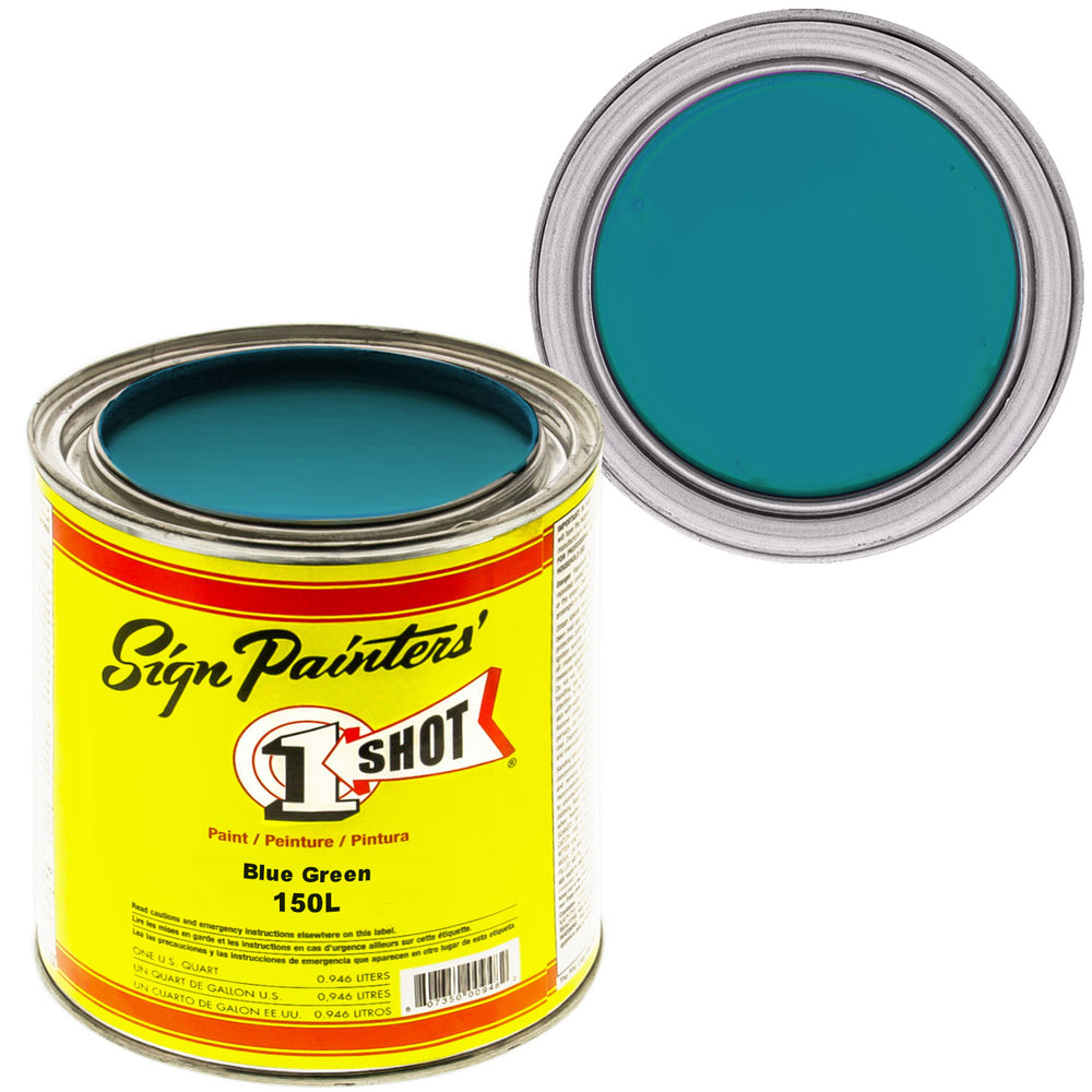 Blue Green Pinstriping Lettering Enamel Paint, 1 Quart